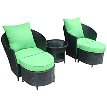 Polyrattan lounge sessel schwarz  Amazon.de: Gartenmöbel Polyrattan Lounge Sitzgruppe Garnitur 2 ...