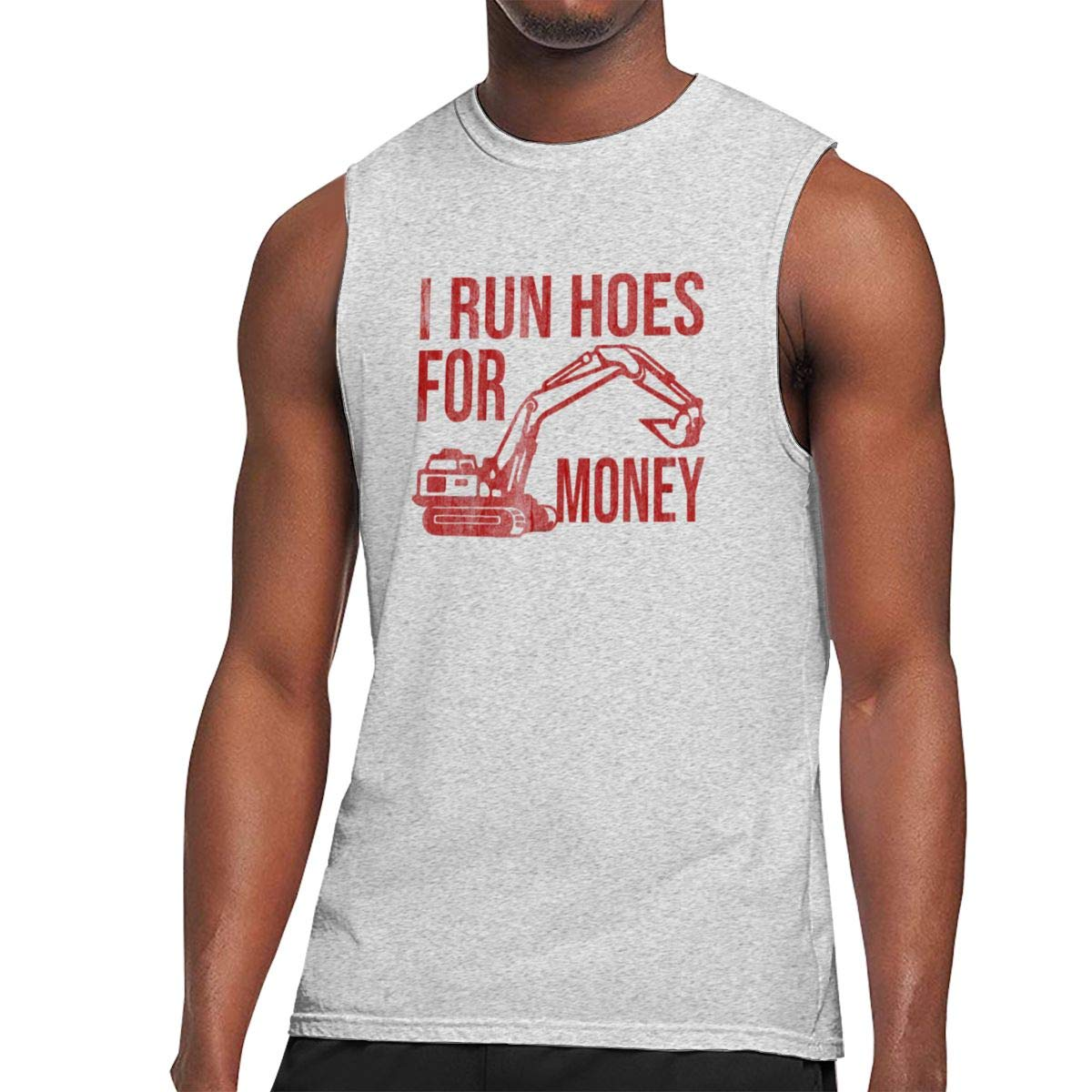 I Run Hoes for Money Sleeveless Tanks Top Shirt Fit Mens