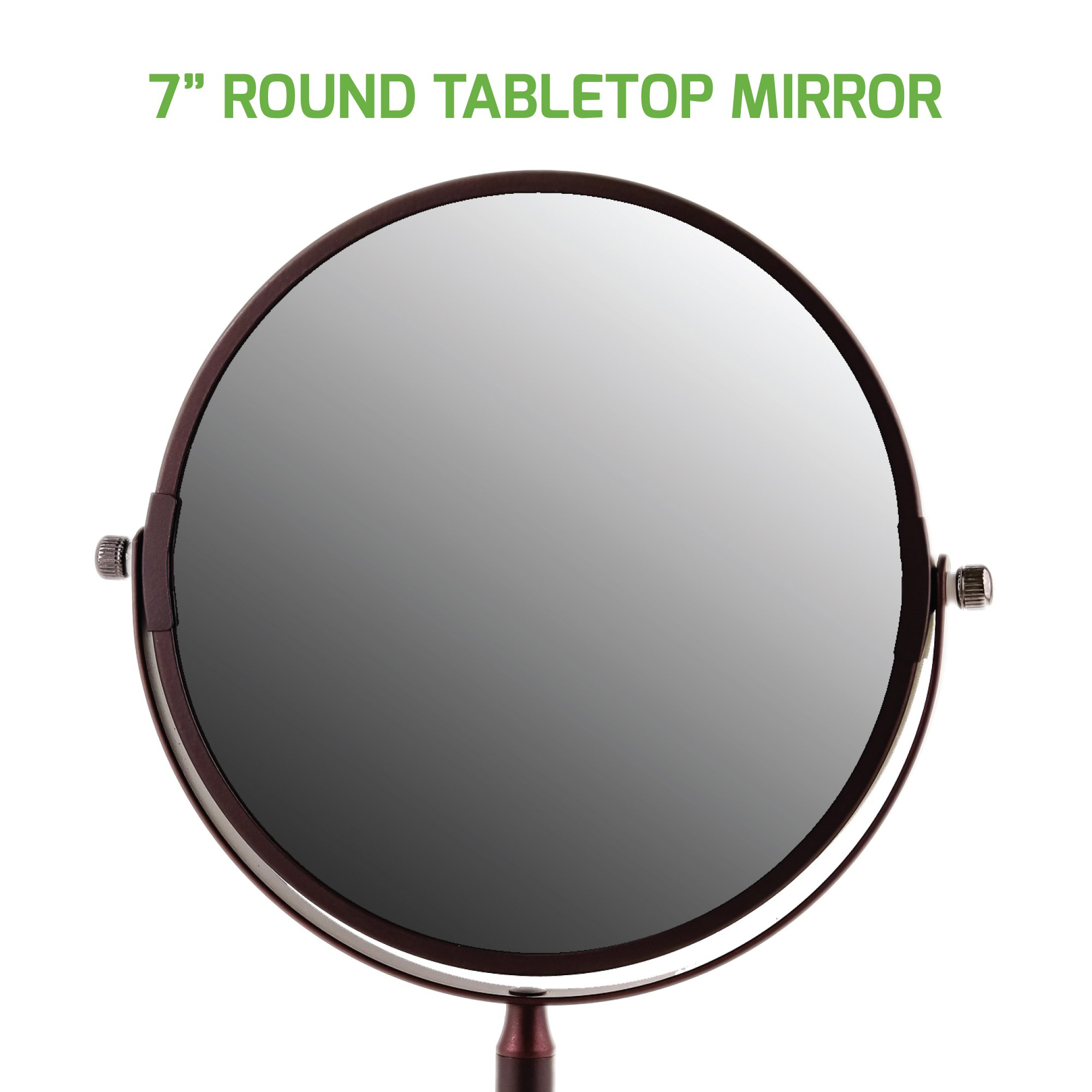 Ovente Round Tabletop Vanity Mirror, 7 Inch, Dual-Sided with 1x/5x magnification, Antique Bronze (MNLDT70ABZ1X5X) by Ovente (Image #6)