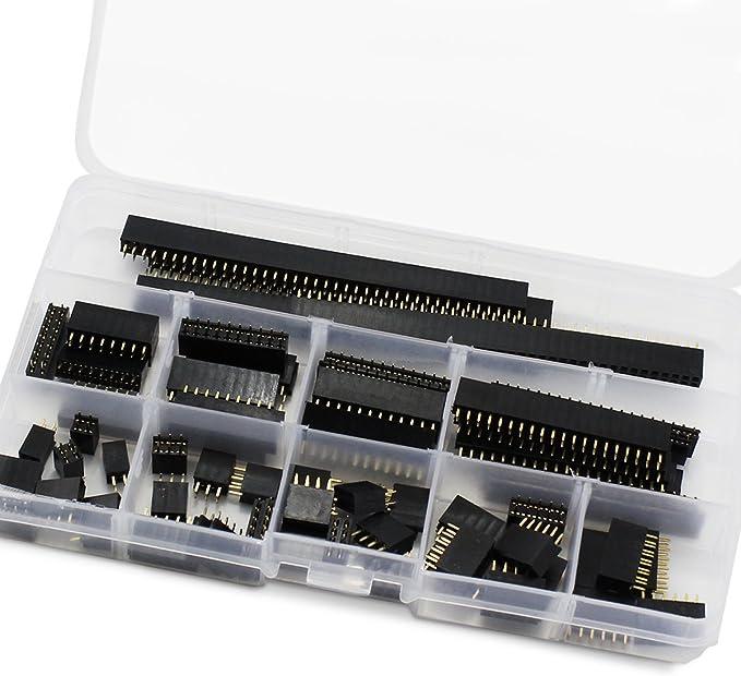 5Pcs 2X10 20Pin 2.54MM Double Rangée Femelle Droit En-Tête Pitch Socket Pin ic