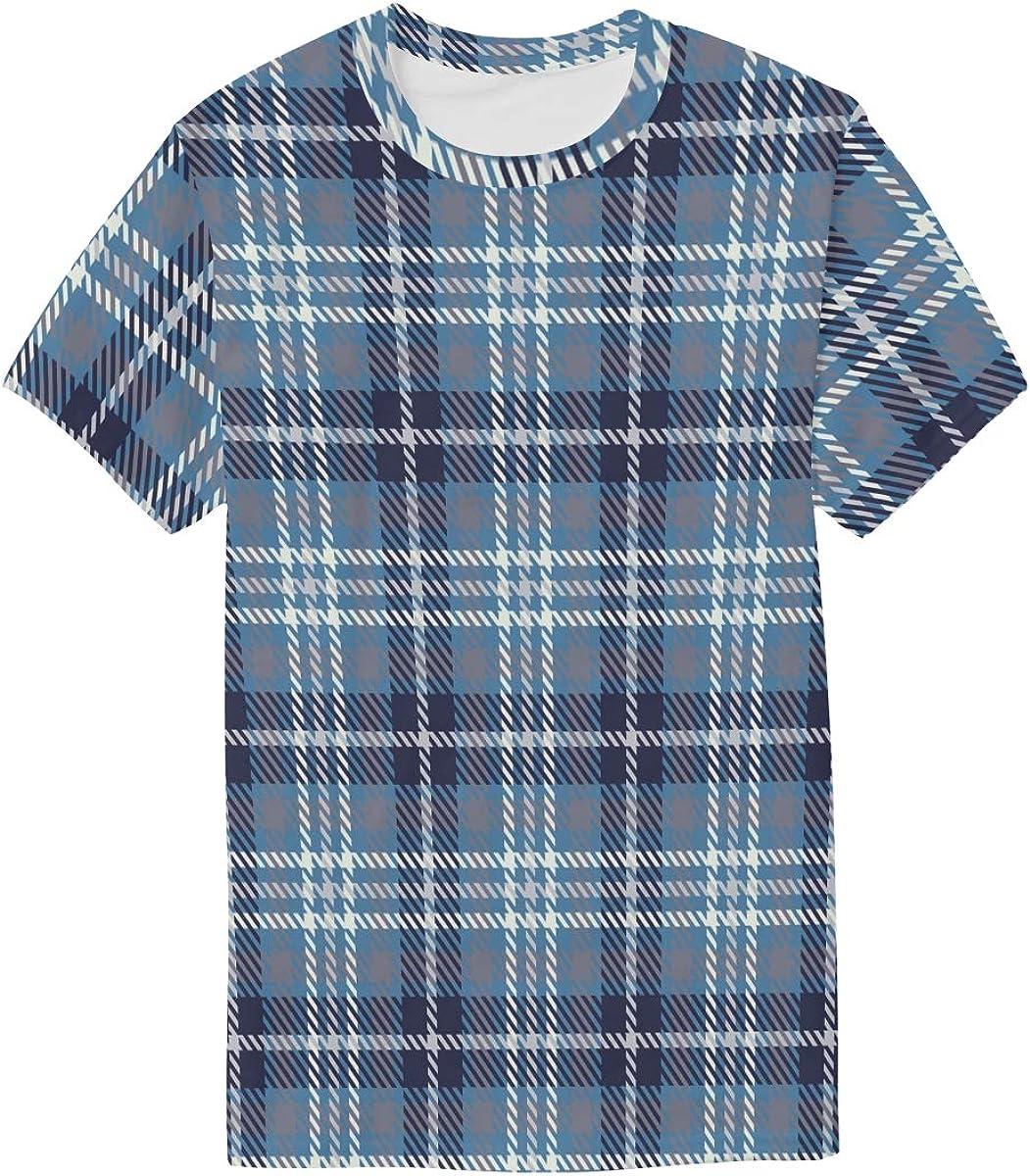 Aluys boutique Mens Casual Tops Short-Sleeve Crewneck Print T-Shirt