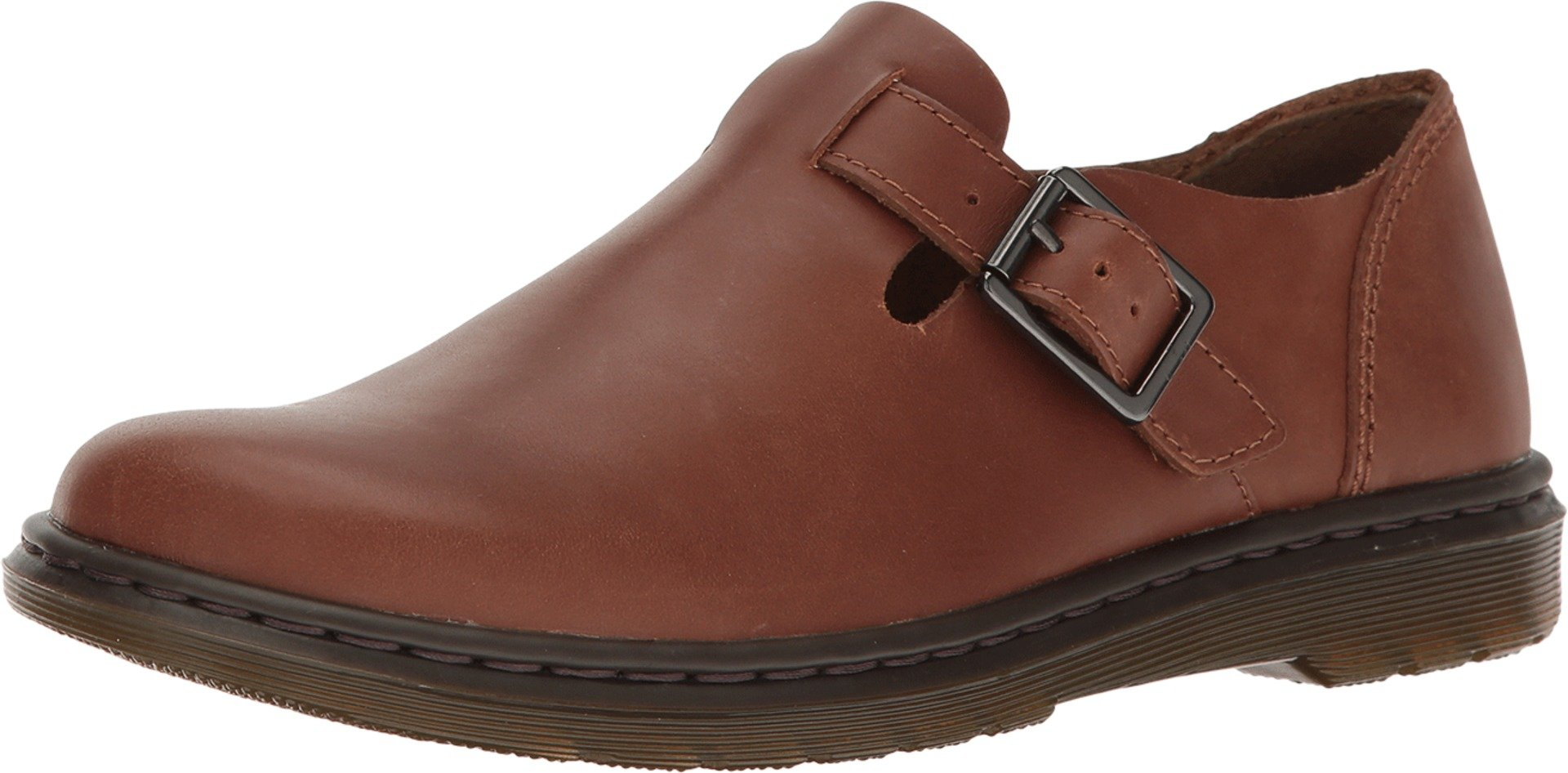 Dr. Martens Women's Patricia Buckle Loafers, Tan, Leather, 9 M UK, 11 M US