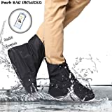 Didadi Reusable Washable Clean Shoe Cover Anti Slip Snow Dust Oil Rain [Heavy Duty] Waterproof. Applicable for Travel Walking Running Activities. [Unisex] Size: XXL(Women: 9.5-11'' Men: 8-9.5'')