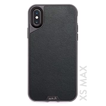 Mous Carcasa Protectora para iPhone XS MAX - Piel Auténtica - Protector de Pantalla Incluido
