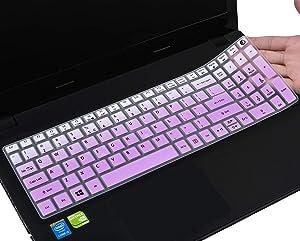 Keyboard Cover for Acer Aspire E15 E5-576 E5-576G E5-575 E5-573G ES15 ES1-572 / Aspire E 17 E5-772G / Aspire V15 VN7-592G/V17 VN7-792G/F15 F5-571 F5-573G / Aspire A315 A515 A715, Ombre Purple