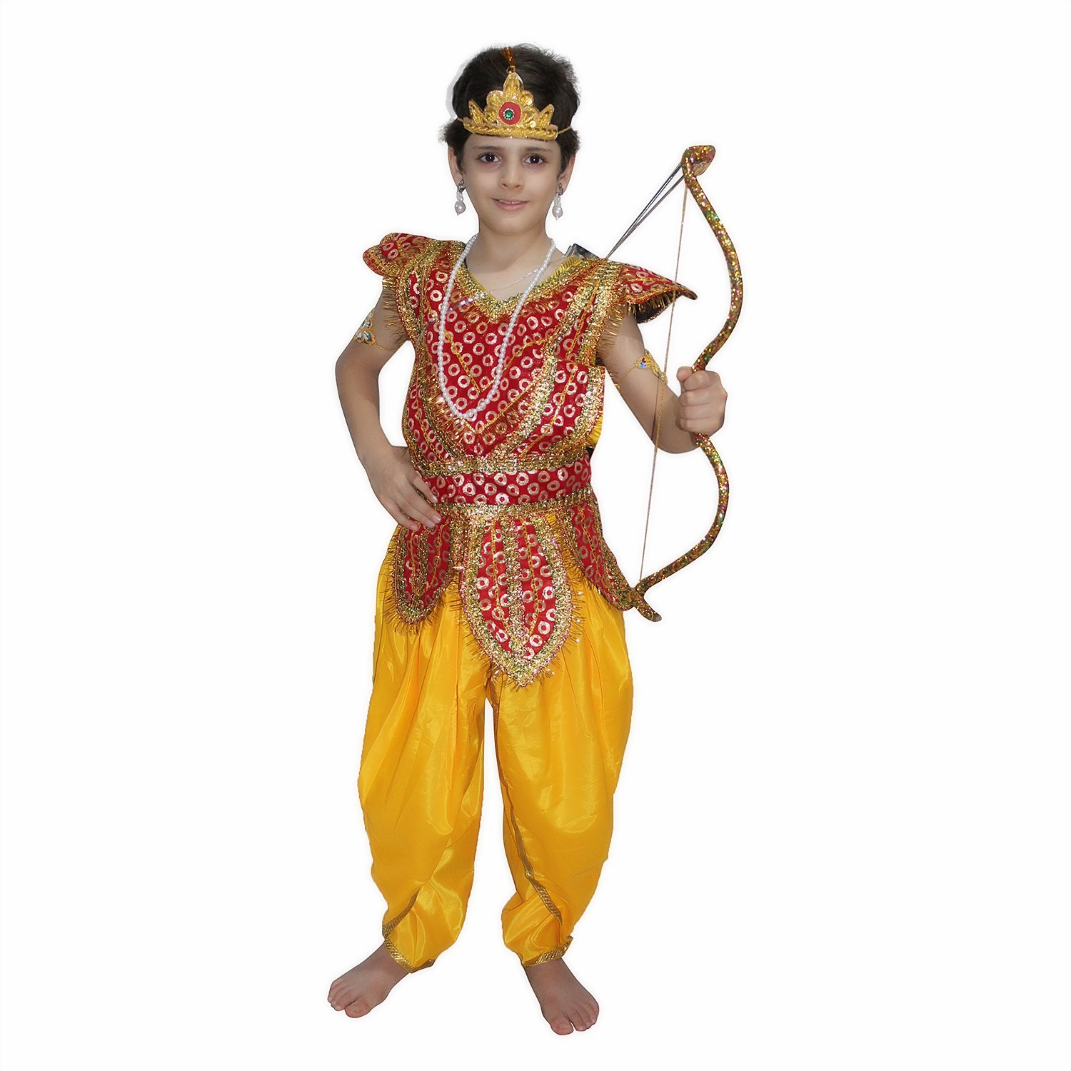 2574355a54 Buy Kaku Fancy Dresses Lord RamFancy Dress for Kids (Multicolour, 3-4  Years) Online at Low Prices in India - Amazon.in