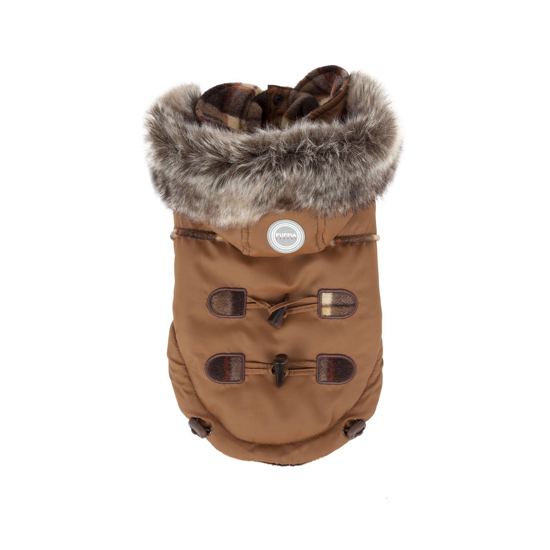 Puppia Authentic Lewis Winter Coat, Small, Beige