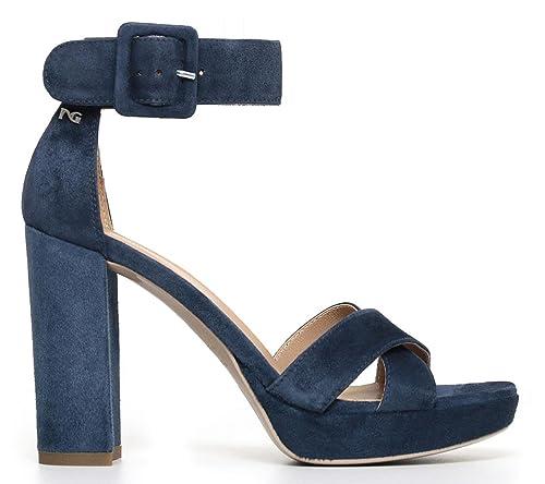 Sandali NeroGiardini P805840D 201 5840 in camoscio blu