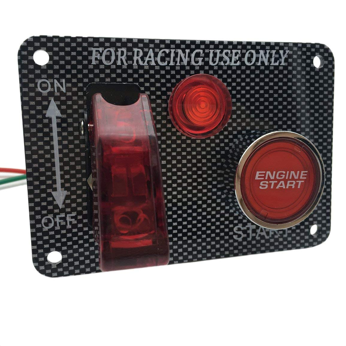 PsmGoods/® Momentan/é on//Off Push Boutons Horn Commutateur pour Voiture Auto Red