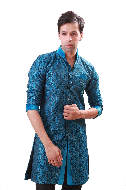 Amazon.com: Blue Indian Wedding Indo-Western Sherwani for Men: Clothing
