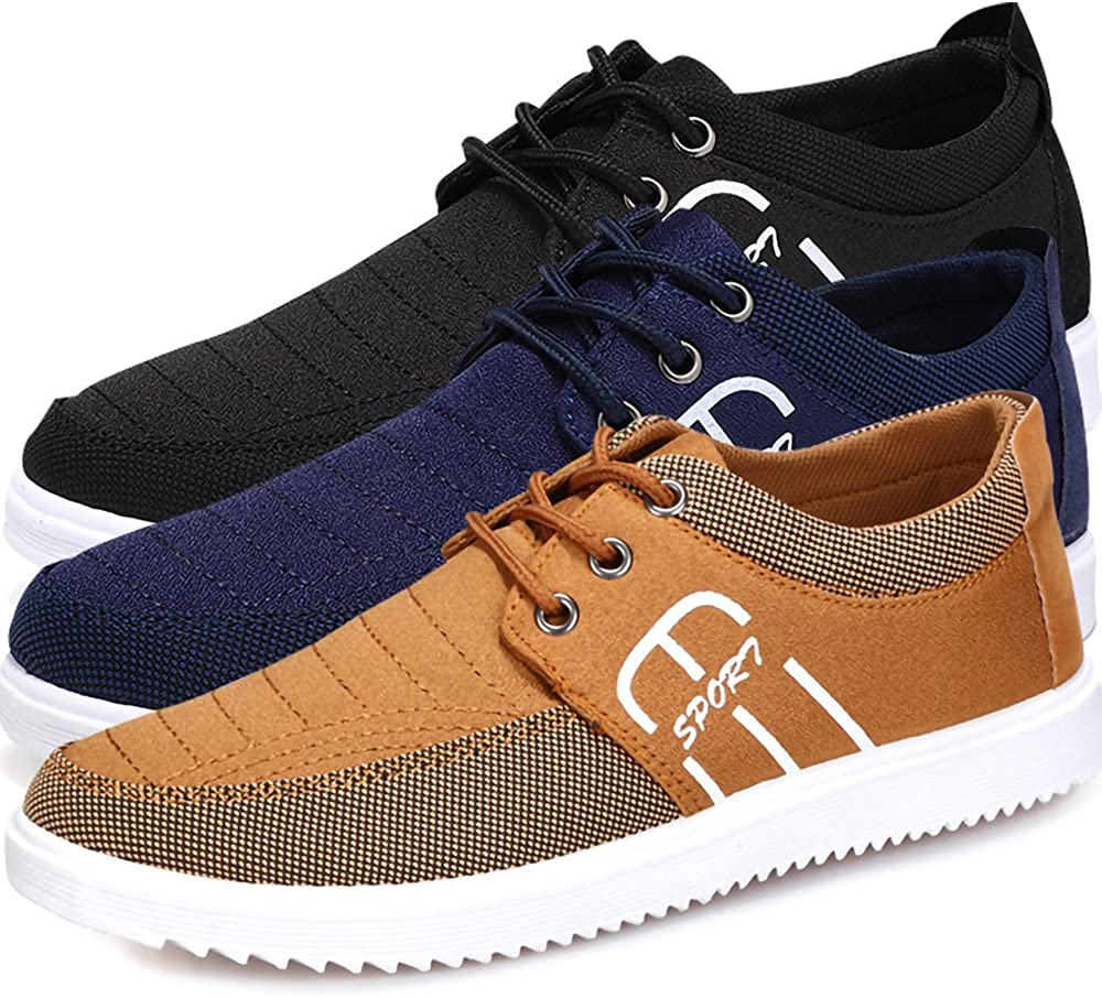 Summer Mens Chic Sport Sneakers Canvas Breathable Lace Up Flat Casual Shoes New