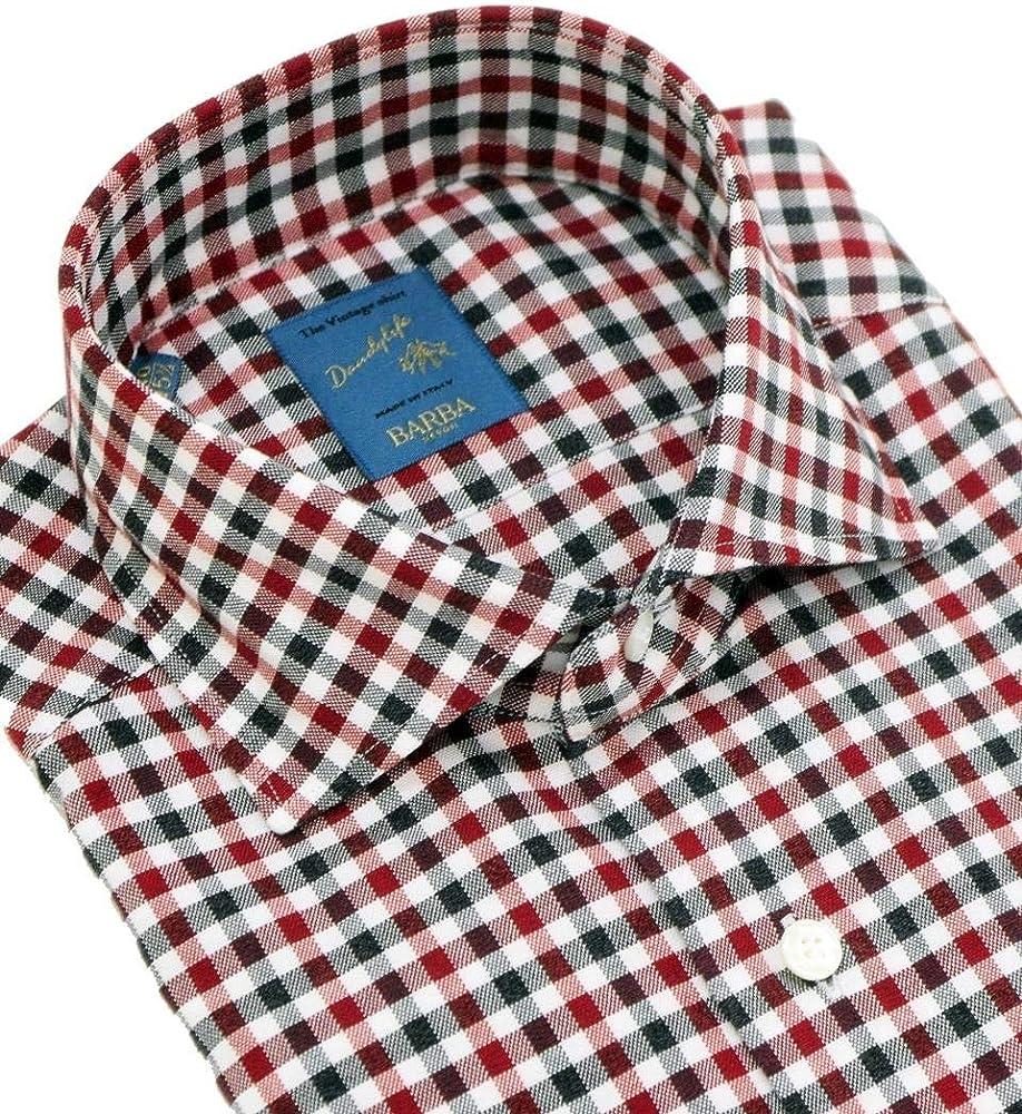 Barba Napoli - Camisa a Cuadros, Color Rojo roja 42: Amazon.es: Ropa y accesorios