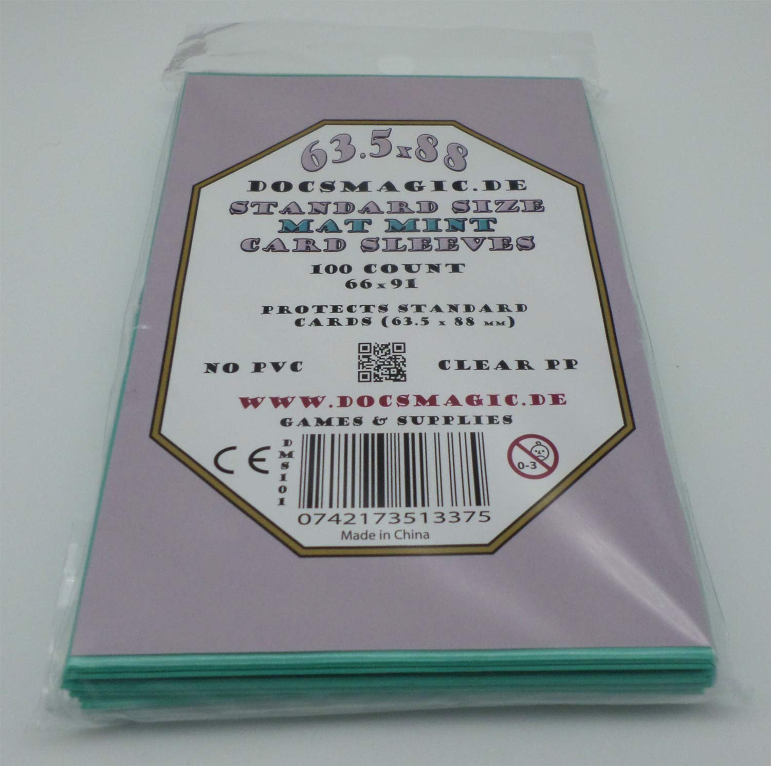 docsmagic.de 100 Clear Card Sleeves Standard Size 66 x 91 ...