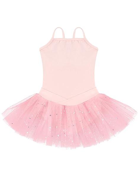 Ephex Niños Vestidos balett niña con vestido de gasa balett Traje de ballet falda con estrellas