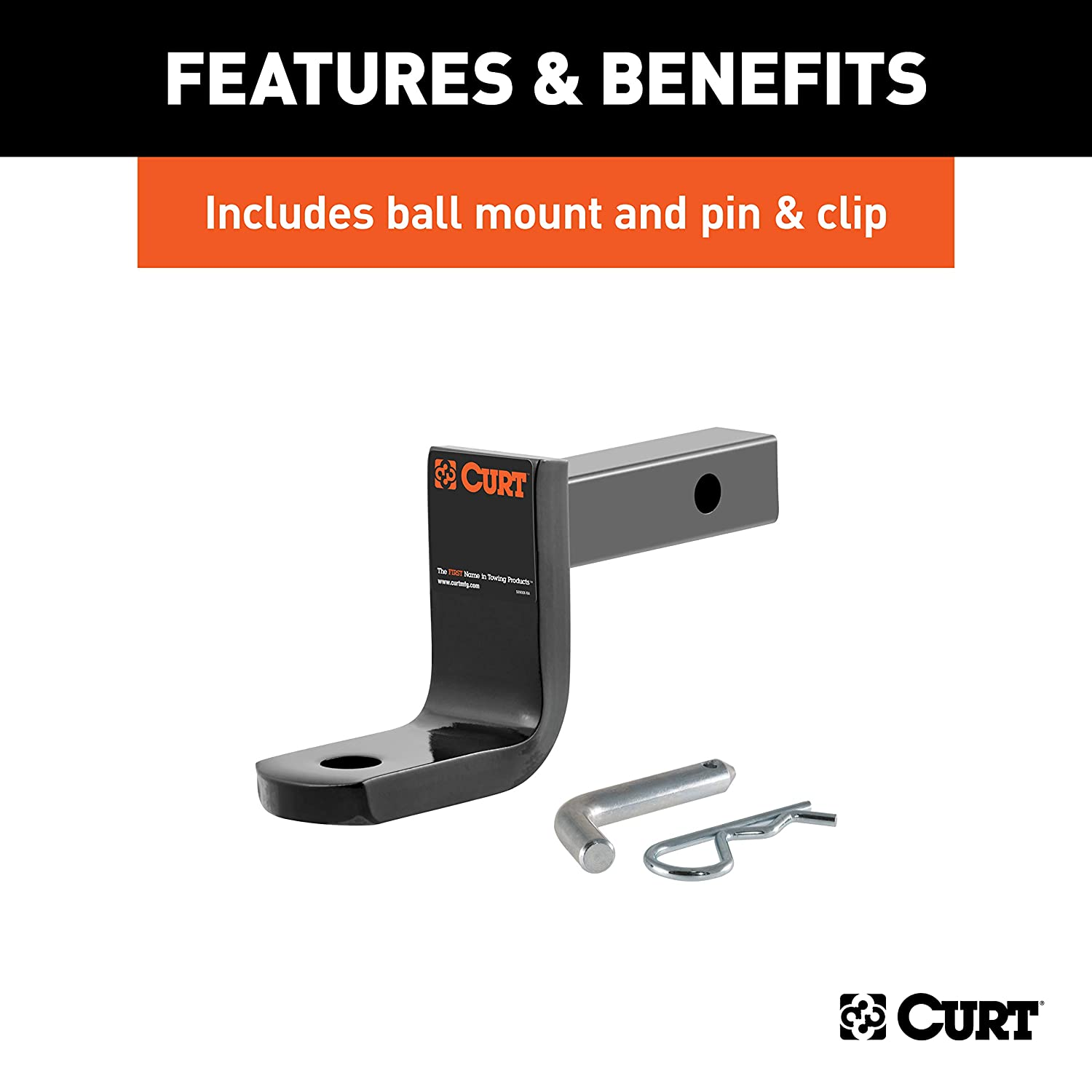 CURT 112073 Class 1 Trailer Hitch with Ball Mount Acura EL 1-1//4-Inch Receiver  for Select Honda Civic
