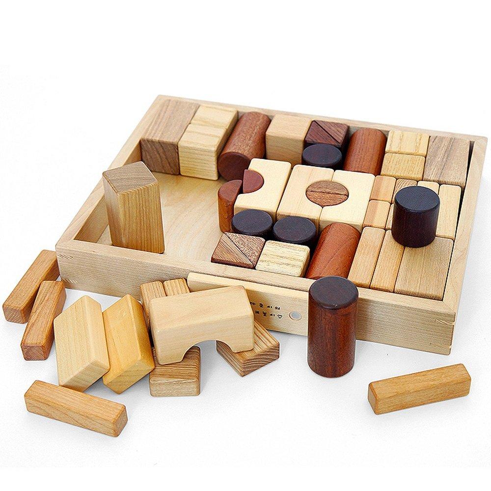 ビルディングブロックのおもちゃ木製の建物の形状のブリックビルディングパズルのおもちゃは子供のために設定 Color ( Color : 50 50 ) : B07FF6B789, GH ダイレクト:d914edde --- m2cweb.com