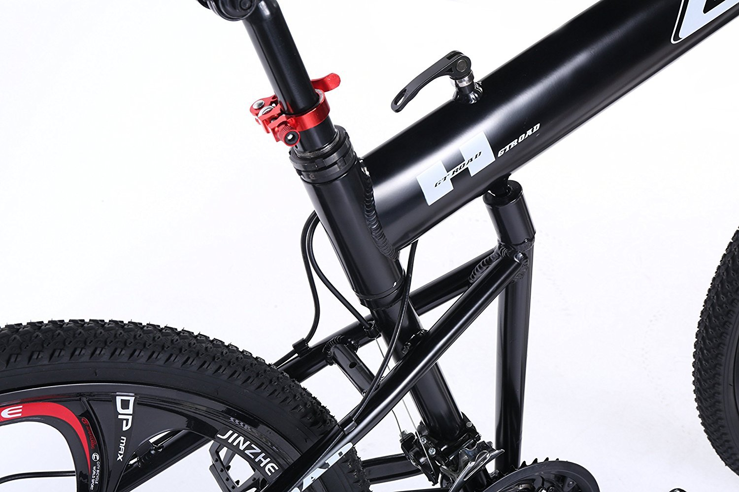 OPATER MTB Mountain Bike 26″ 24 Speed Sturdy Carbon Steel Frame Bike For Men and Women (Black) by OPATER (Image #3)