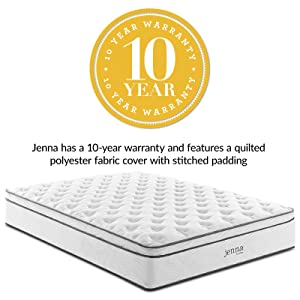 "Modway Jenna 14"" California King Innerspring Mattress"