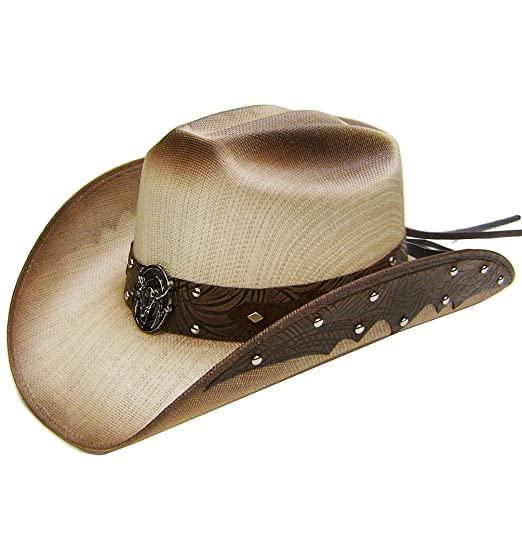 7f1ae3364dc Image Unavailable. Image not available for. Color  Modestone Straw Cowboy  Hat ...