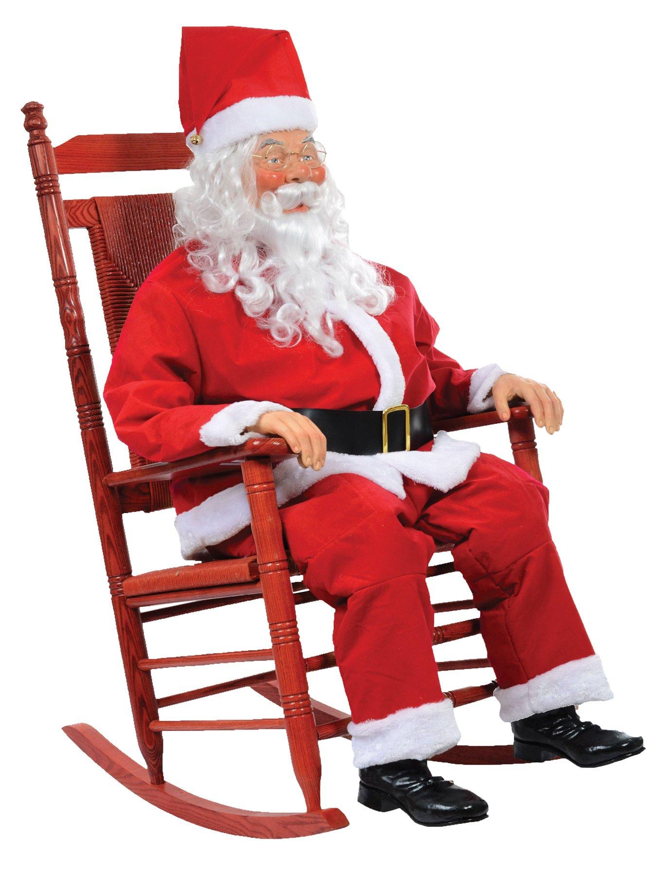 CHRISTMAS TALKING REALISTIC LIFESIZE ANIMATED ROCKIN SANTA CLAUS