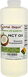 Coconut Oil - Fractionated - MCT Oil - 1 Quart - 32 oz - Food Grade - safety sealed HDPE container with resealable cap