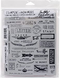 """Tim Holtz Cling Stamps 7""""X8.5"""", Correspondence"""