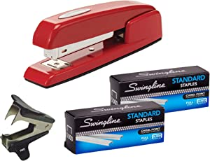 Swingline Stapler, 747 Iconic Desktop Stapler, 25 Sheet Capacity, Rio Red (74736) | Swingline Standard Staples 2 Pack | Stapler Remover