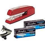 Swingline Stapler, 747 Iconic Desktop Stapler, 25 Sheet Capacity, Rio Red (74736) | Swingline Standard Staples 2 Pack | Stapler Remover
