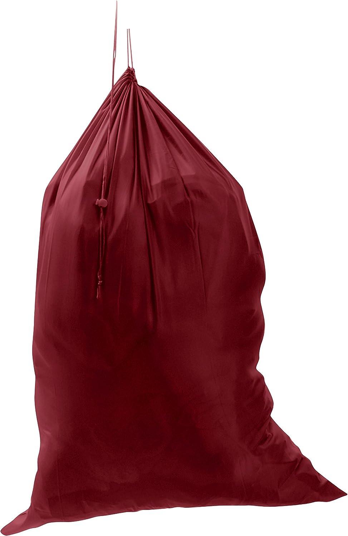 "M&S Gifts Premium Heavy-Duty Nylon Laundry Bag - Clothes Hamper w/Drawstring - Home & College Essentials Burgundy (29""x40"")"