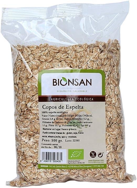 Bionsan Copos de Trigo Sarraceno Ecológico | 6 Bolsas de 500 g ...