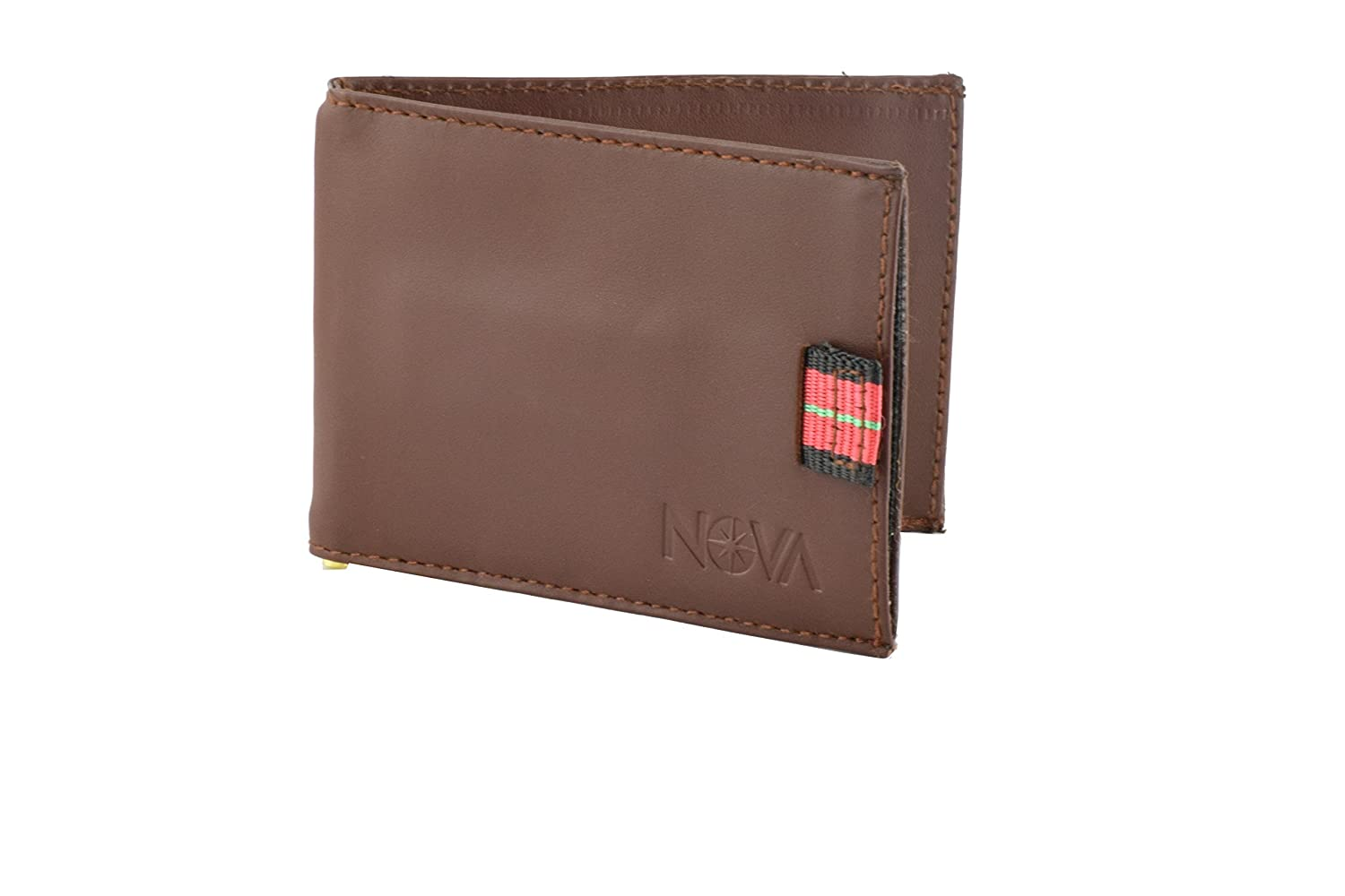 Front Pocket Pull Tab Card Holder with Money Clip Bifold Ultra Slim Smart Wallet