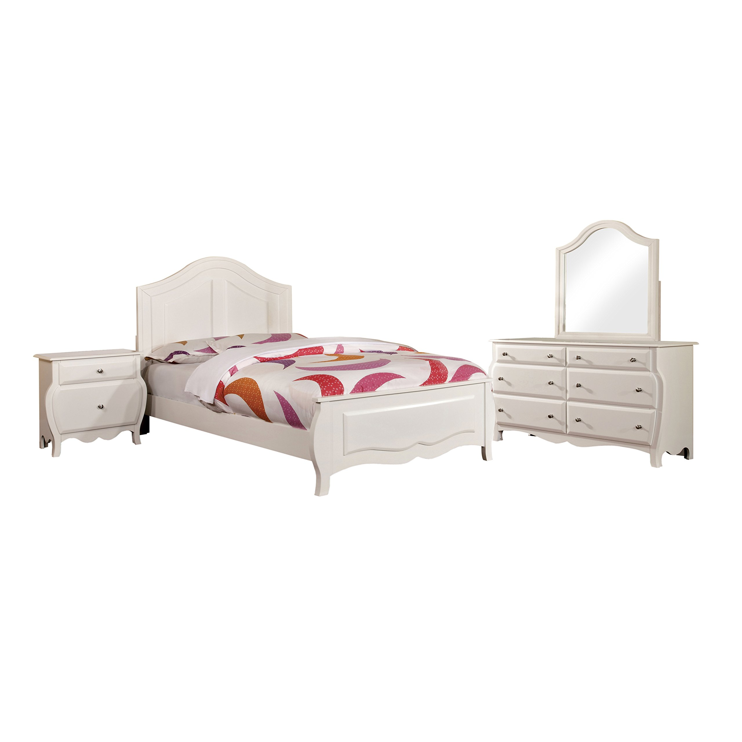 HOMES: Inside + Out 4 Piece ioHOMES Lionel Youth Bedroom Set, Twin, White