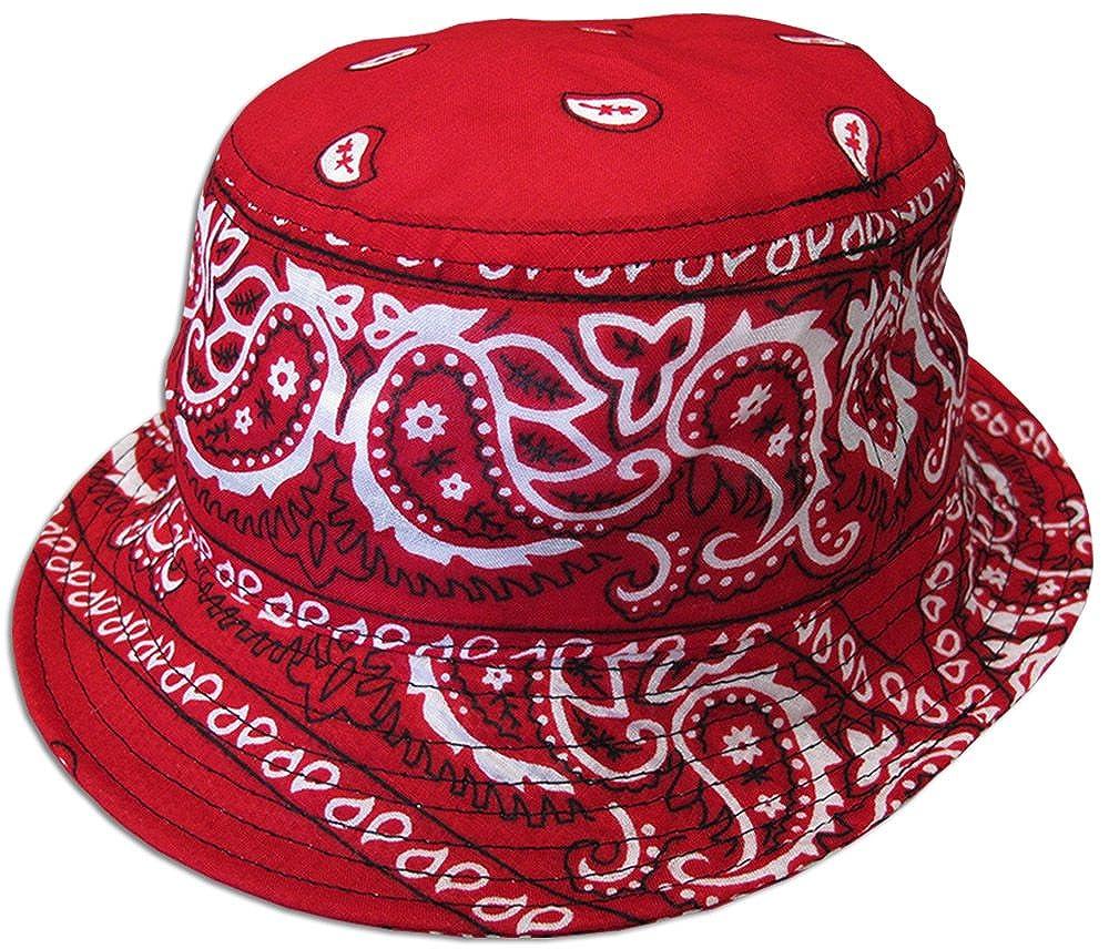32b1671e362 Amazon.com  Bandana Paisley Bucket Hat (Various Colors) Cotton ...