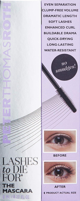 baa9cb9ca5f Amazon.com : Peter Thomas Roth LASHES TO DIE FOR THE MASCARA 8 ML/0.27 FL OZ  : Eyelash Growth Products : Beauty