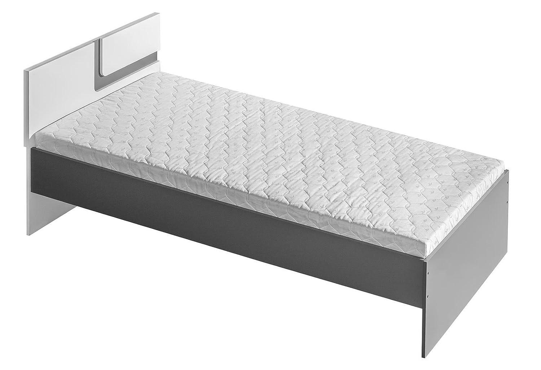 SMARTBett Smart Cama Cuna con colchón abetito Gris/Blanco
