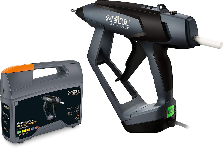 Steinel 052690gluepro 400LCD profesional Pistola termofusible (con gradgenauer indicador de temperatura, 40W, 230V