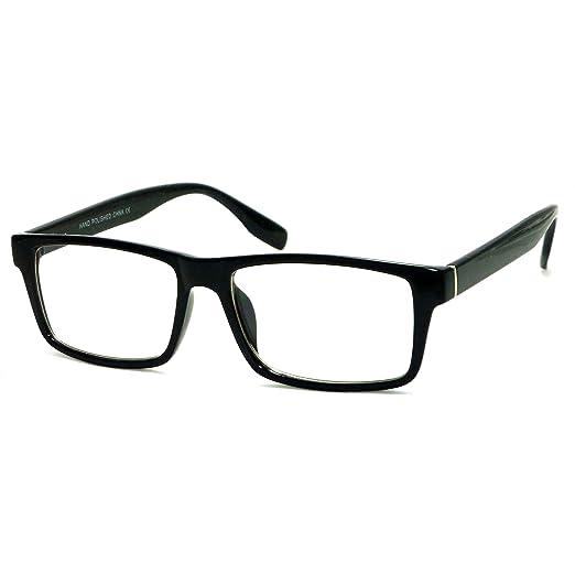 Amazon.com: VINTAGE Designer Style Rectangle Frame Clear Lens ...