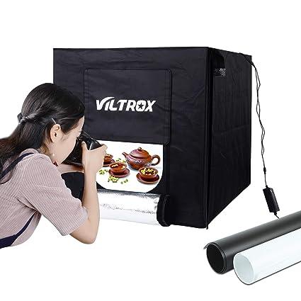 VILTROX 60x60x60 cm Cube Box Black LED Lighting Table Top Photo Shooting Tent kit + Portable  sc 1 st  Amazon.com & Amazon.com : VILTROX 60x60x60 cm Cube Box Black LED Lighting Table ...