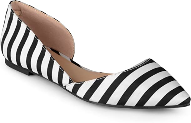 Wide Width Pointed Toe Cut-Out Flat