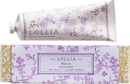 LOLLIA Relax Shea Butter, Lavender & Honey Hand Cream, 1.25 oz