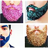 Glitter Beards Moustache Eyebrows Skin Head Hair Male Grooming Hot Trend Party Rave 1x Bag + Wand (Purple Metallic)