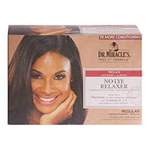 Dr. Miracle's No-Lye Relaxer, With Proteins to Help Prevent Breakage & Vitamins A & E For Healthy Hair Growth, 1 Complete Application