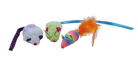 gloria ratón de peluche Gatos (color surtidos, 3 unidades