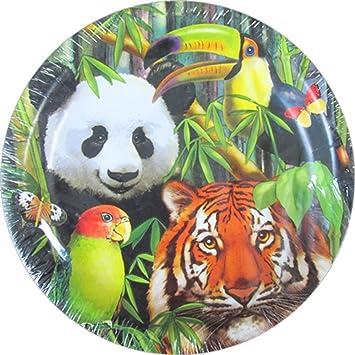 Jungle Animals \u0027Wild Animals\u0027 Large Paper Plates ...  sc 1 st  Amazon.com & Amazon.com: Jungle Animals \u0027Wild Animals\u0027 Large Paper Plates (8ct ...
