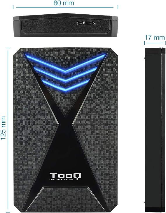 TooQ TQE-2550BL - Carcasa para Discos Duros HDD de 2.5