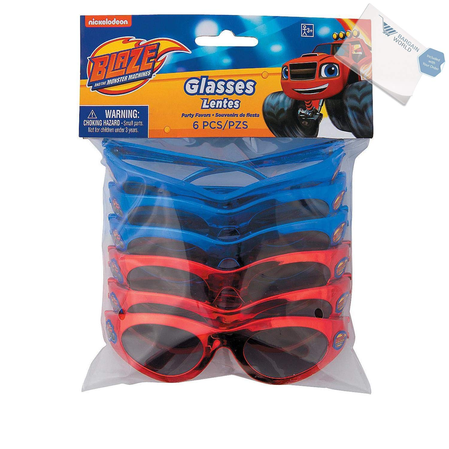 e49f3e8f7924 Amazon.com: Bargain World Blaze and the Monster Machines Sunglasses (With  Sticky Notes): Home & Kitchen