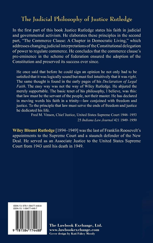 A Declaration of Legal Faith  Rutledge, Wiley Amazon.de Bücher