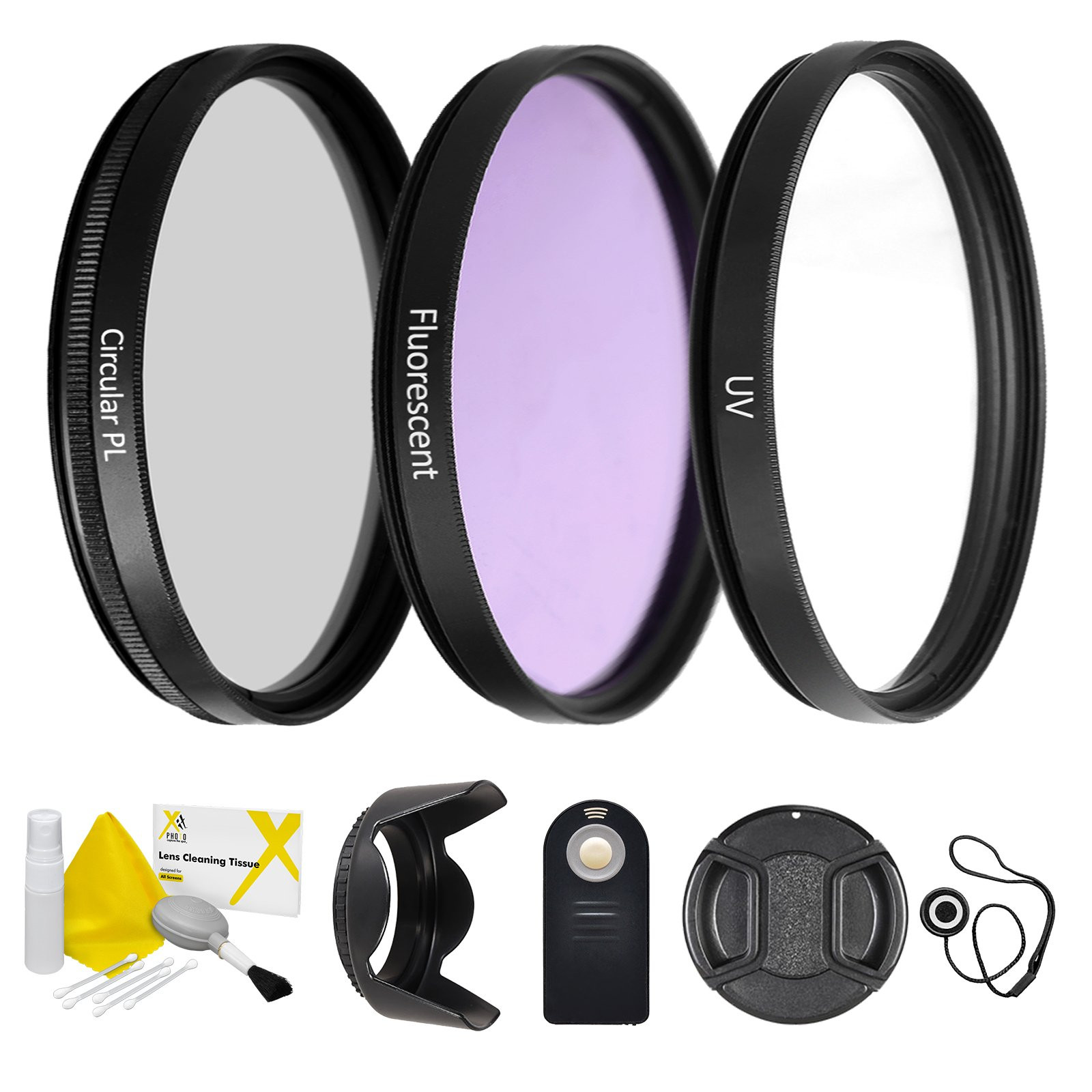 55mm UltraPro Professional Filter Bundle for Lenses with a 55mm Filter Size - Includes Filters, Remote, Lens Hood & More by UltraPro