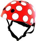 Kiddimoto Kids Safety Cycle Helmet, Red Dotty