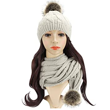 Amazon Com Beautyer Beanie And Scarf Sets For Women Warm In Winter